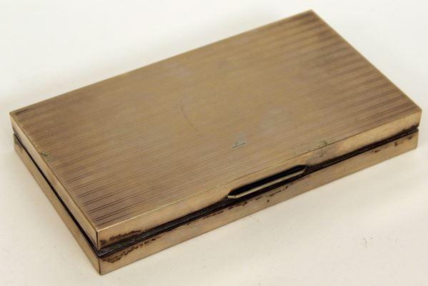Scatola in legno argentato, cm 3 x 18 x 10 cm.