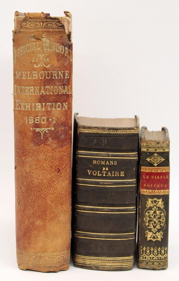 Lotto di tre libri francesi del XIX secolo.