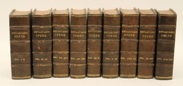Opere, Metastasio, nove volumi, 1824.