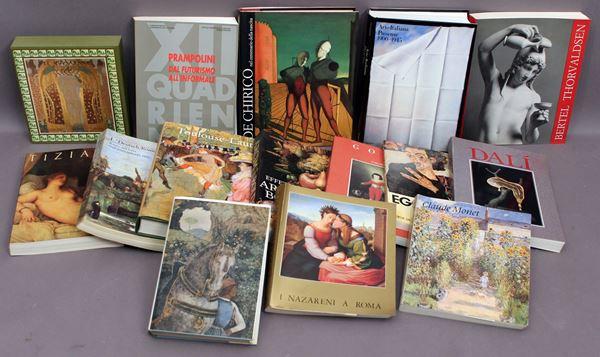 Lotto composto da quindici libri sull'arte.