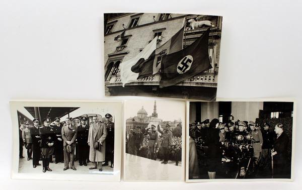Lotto composto da quattro fotografie originali del periodo fascista.