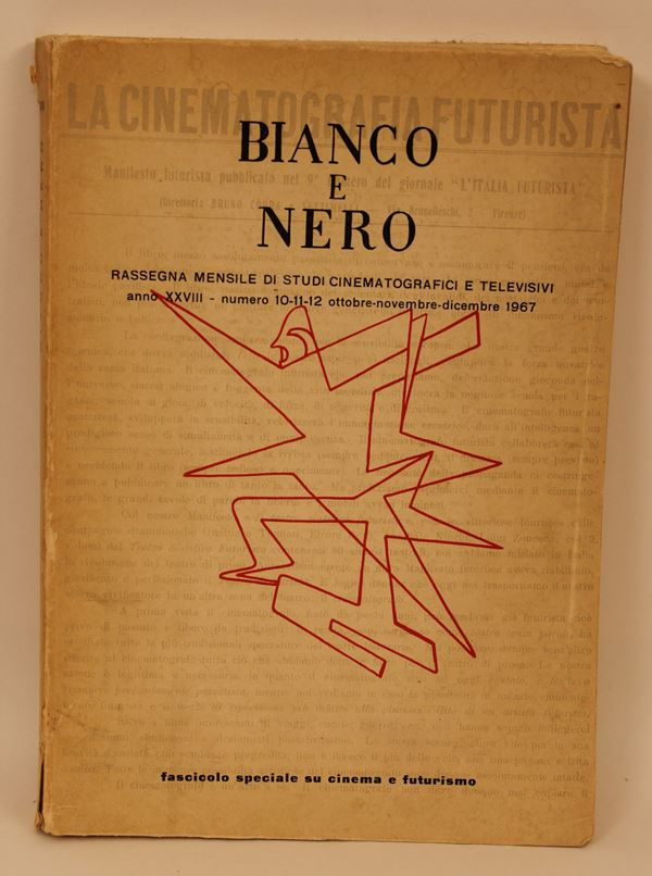 Bianco e Nero, anno XXVIII n. 10/11/12, fascicolo speciale su cinema e futurismo a cura di Mario Verdone, 1967.