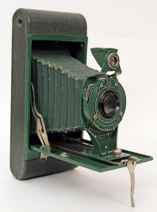 Macchina fotografica Kodak verde.