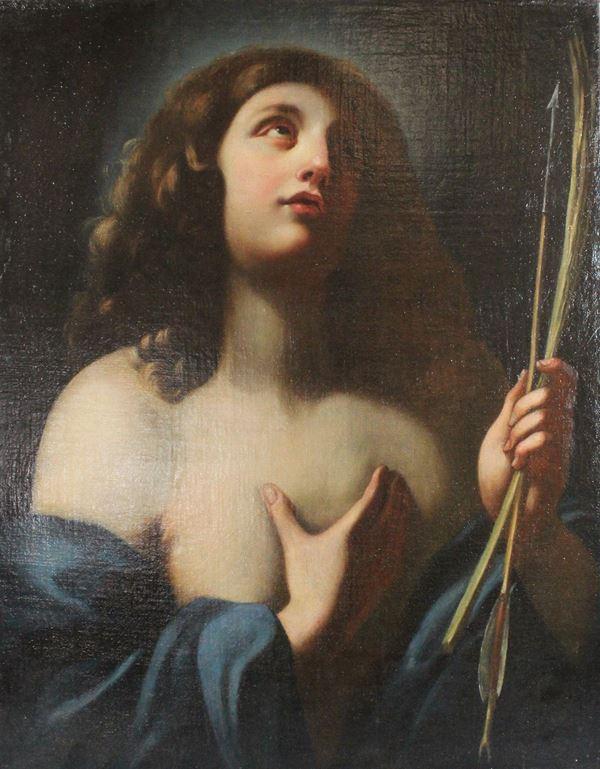 Scuola fiorentina del XVII secolo, San Sebastiano, olio su tela, cm. 70x55.