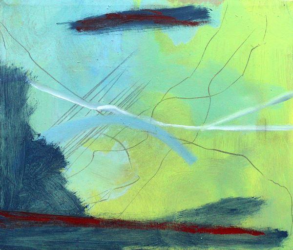 Elisa Montessori - Senza titolo, olio su tela, cm 30x35
