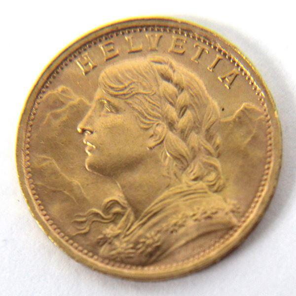 Svizzera, 20 Franchi in oro, 1947