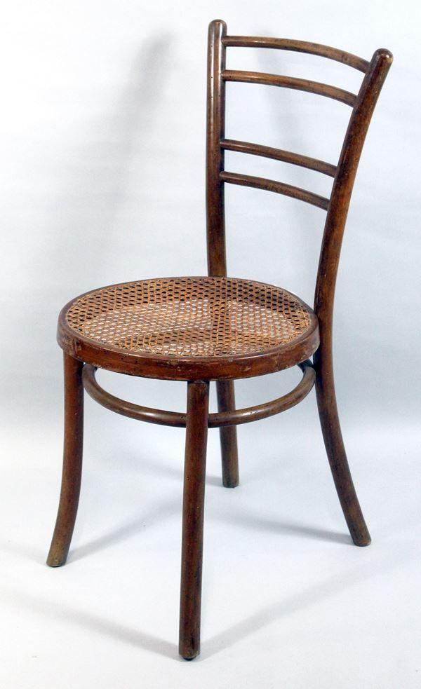 Sedia Thonet, con seduta in cannetè, XX secolo.