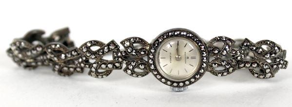 Bucherer, Orologio da polso in argento, da donna, meccanismo da revisionare.