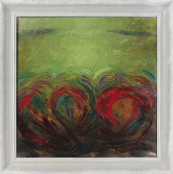 Marisa Tafi - Senza titolo, olio su tela, cm 40x40, firmato fronte retro, entro cornice.