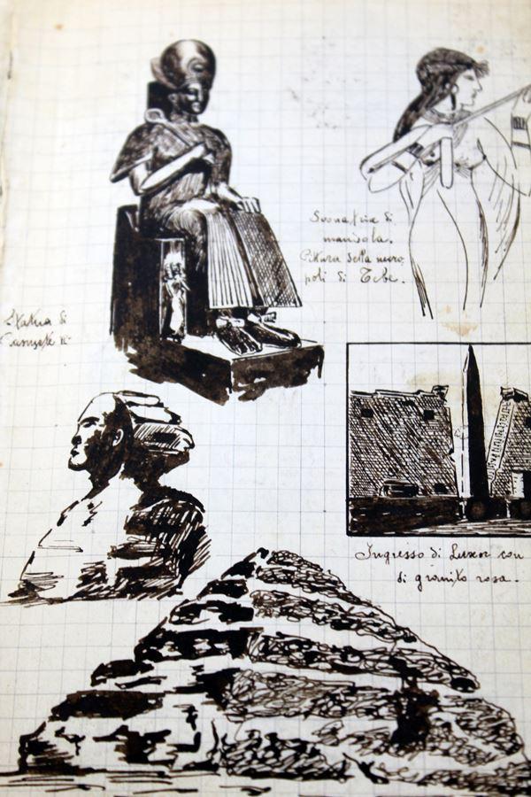 Volume manoscritto ed illustrato dal maestro d'arte Giulio Zancolla, disegnatore e costruttore di gioielleria presso Bulgari dal 1930/1950.
